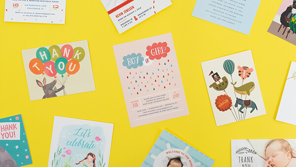 Kids collection of cards