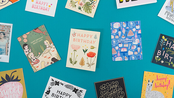 collection of cute birthday cards