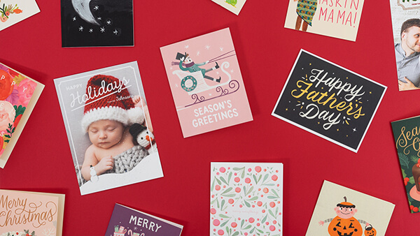 Holidays collection of cards