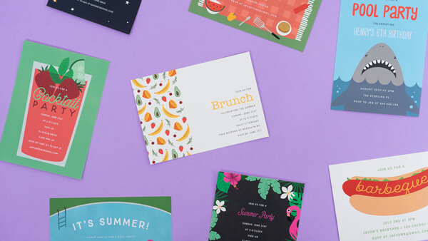 Invitations collection of cards