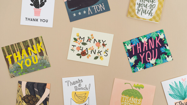 collection of beautiful thank you cards