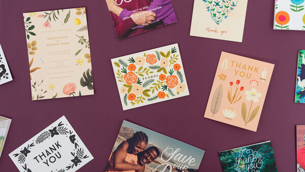 collection of lovely wedding cards